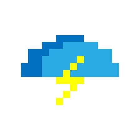 Lighting and cloud vector icon