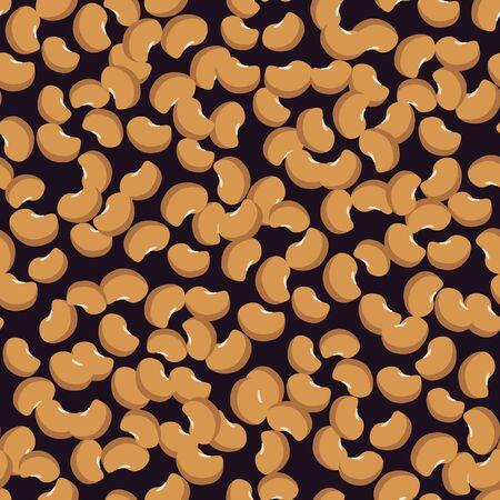 Seamless lentils vector decorative pattern