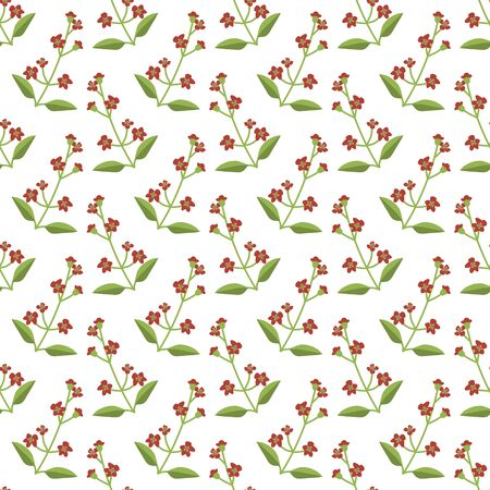 Seamless sandalwood vector floral pattern Иллюстрация