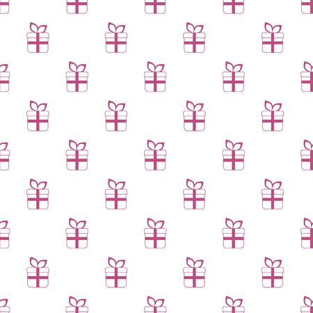 Seamless gift boxes vector pattern