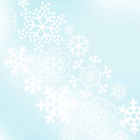 Abstract vector background with snow flakes Ilustração