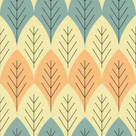 Seamless foliage abstract vector pattern