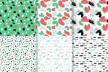 Seamless abstract vector geometric patterns