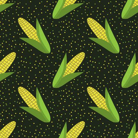 Seamless corn vector decorative pattern