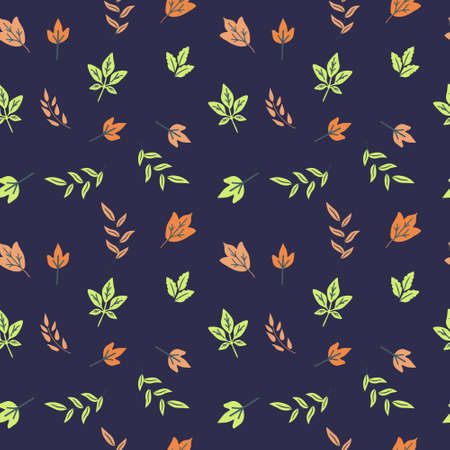 Seamless fall leaves decorative pattern