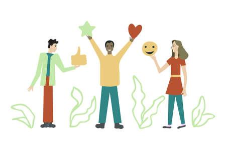Social media marketing vector illustration Ilustração