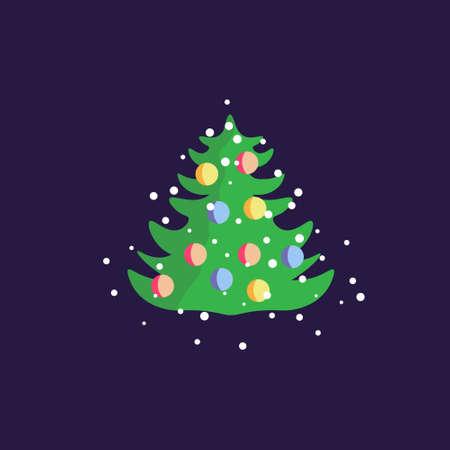 New year vector fir tree Ilustração