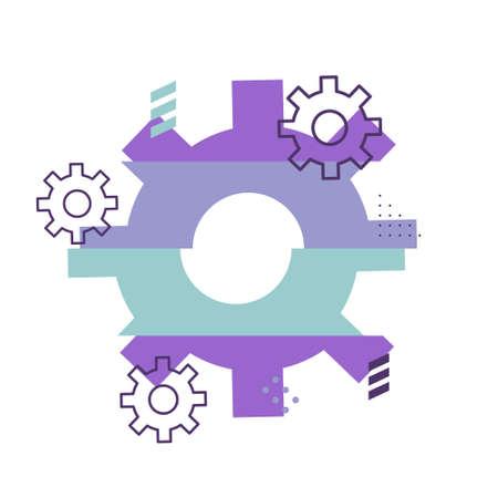 Cogwheel abstract vector repair background