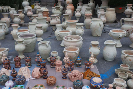 wax sell: Exposition of colorful artistic ceramics