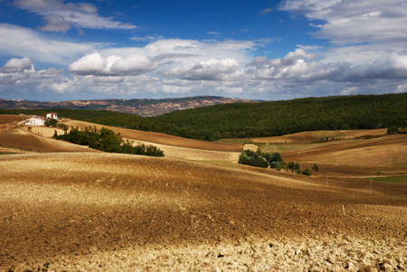 molise: Plowed farmland in Molise (center Italy) Stock Photo