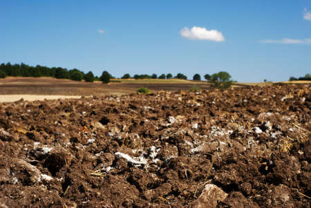 molise: Plowed fields in Molise (center Italy) Stock Photo