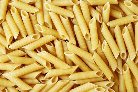 maccheroni: Italian rigatoni pasta background Stock Photo