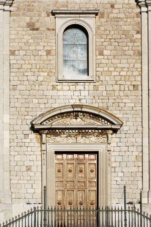 molise: Facade of ancient stone church in Molise (center Italy) Stock Photo