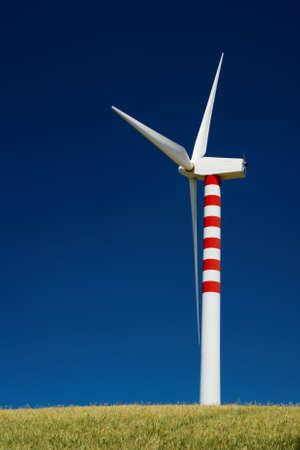 Single wind turbine in golden wheat field Stock Photo - 4886076