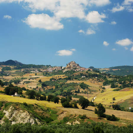 molise: Region Molise in center Italy, the little villages are Ripalimosani and S.Angelo Limosano Stock Photo