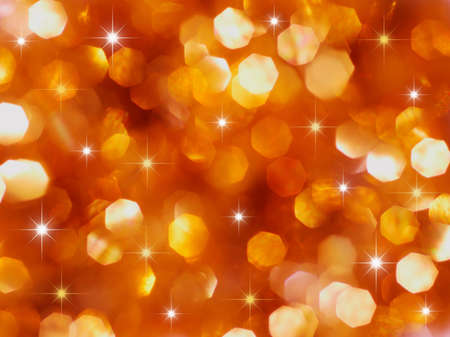 Christmas red and gold lights and stars Stock Photo - 5415434