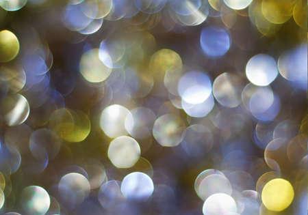 Christmas multicolored defocused lights background photo