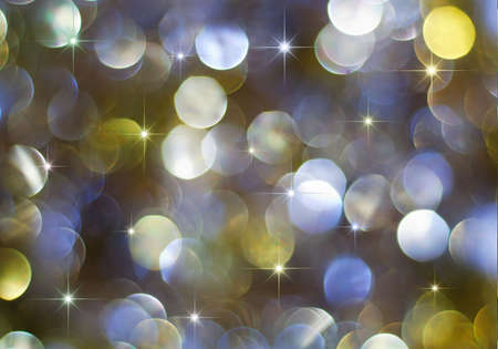 Christmas multicolored defocused lights with shining stars Stock Photo - 5724186