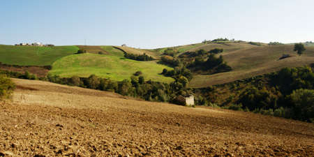 molise: Rural landscape with cultivated fields in Molise