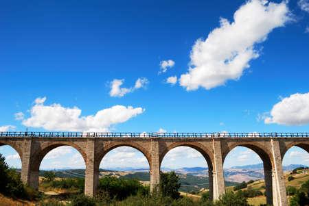 Old brick railway bridge in Molise, center Italy photo