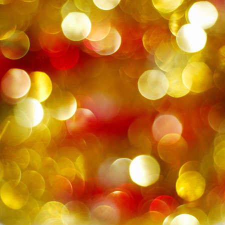 Abstract red and golden abstract Christmas lights