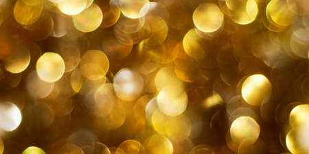 Dark golden abstract Christmas lights background Stock Photo - 7857553