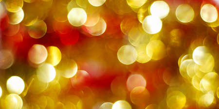 Bright red and golden abstract Christmas lights Stock Photo - 7963807