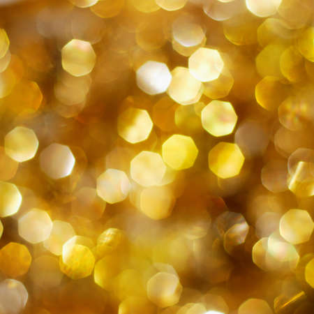 Christmas abstract bright golden lights background Stock Photo - 7963806