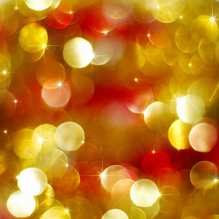Red and golden abstract Christmas lights glowing Stock Photo - 7963812