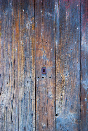 The unexpected colors of an old wooden door