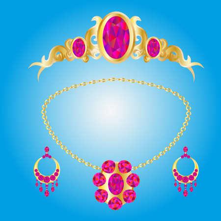 diamond earrings: Set of jewelry