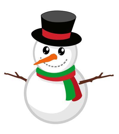 Snow puppet cartoon in vector