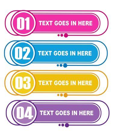 Infographic vector color Vektorgrafik
