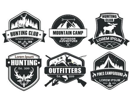 Hunting logo template in vector Logos