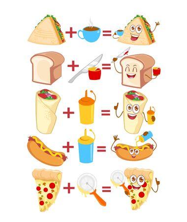 Food cartoon mascot in vector