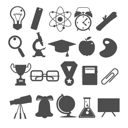 Knowledge icon in black white vector 일러스트