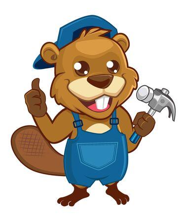 Beaver mascot cartoon in vector Vecteurs