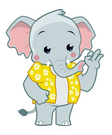 Elephant mascot cartoon in vector