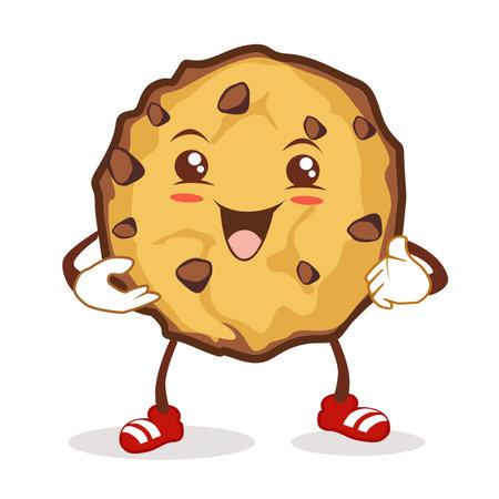 cookies mascot cartoon in vector Vektorgrafik