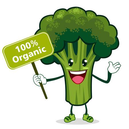 Brocoli vegetable mascot cartoon in vector