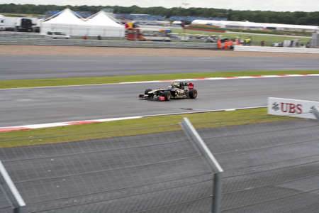 bolid: f1 vitaly petrov lotus renault at silverstone circuit in england july 10, 2011 grand prix europe gb