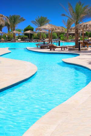 Swimming pool of luxury hotel photo
