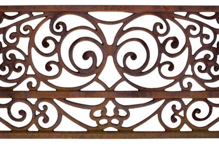 wrought: Ornate Detail of a fence Stock Photo
