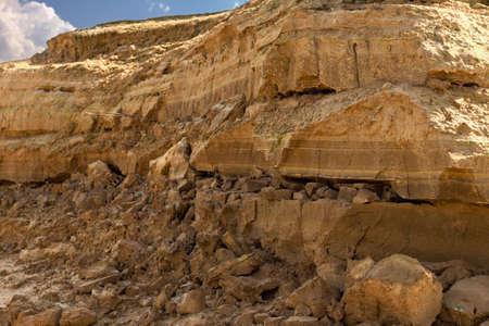 rockslide: Dolomite mine close up Stock Photo