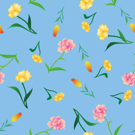 various flowers background