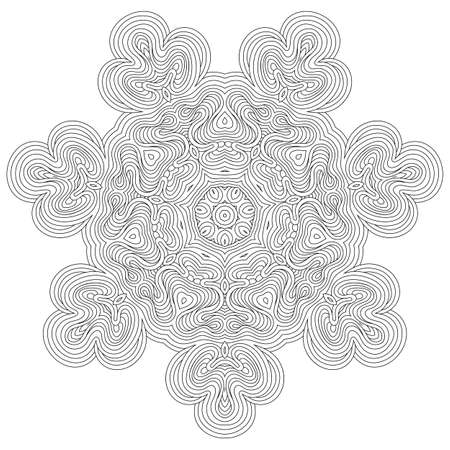 Monochrome mandala for coloring book. Vintage decorative elements, ethnic ornament for your design.