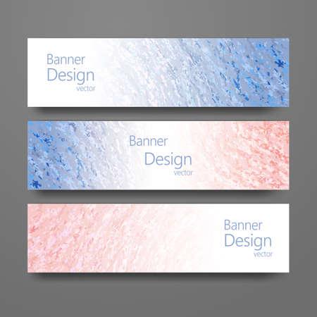 rose quartz: Set of banners with trendy colors rose quartz and serenity