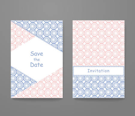 Business card with trendy colors rose quartz and serenity