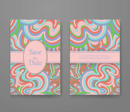 Business card with vivid lines pattern