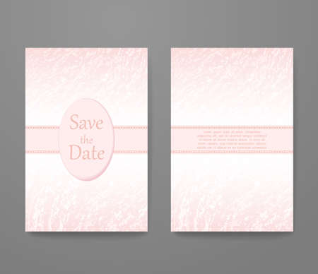 Business card with trendy color rose quartz. template set, invitation collection, abstract elegant pattern design. 矢量图像